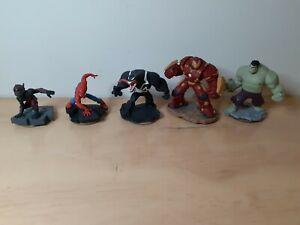 Disney Infinity Marvel Lot Venom Spider-man Hulk Ant Man Hulkbuster