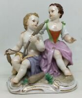 Antique Meissen Figurine of child Hercules and Omphale Late 18th c. [AH894]