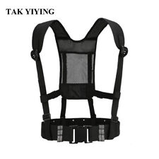 Tactical Waist Padded Belt With H-shaped Suspender Military Airsoft Nylon Belt B