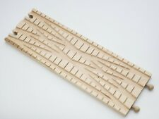 """Thomas Train Wooden Railway Rare Clickity Clack 12"""" Double wide Cross Over Track"""
