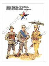 PLANCHE UNIFORMS PRINT Guerre civile chinoise CHINESE CIVIL WAR China Army Chine