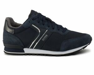 Hugo Boss Parkour Runn Nymx2 50433661 402 Mens Trainers Blue Sneakers Shoes