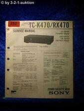 Sony Service Manual TC K470 / RX470 Cassette Deck (#0252)