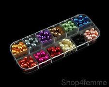 12 Colours Total 240pcs Half Pearls 7mm Flat Back