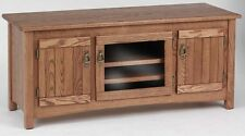 #978 Solid Wood Oak Mission TV Stand