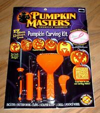 Pumpkin Masters Carving Kit book - 12 Patterns - 5 Tools - 2013