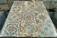 5 full sample tiles Vintage Moroccan design patterned porcelain tiles  -