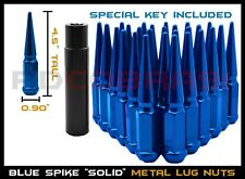 "Solid Steel Blue 4.5"" Spike Lug Nuts for 2015-2020 Ford F-150 & Expedition"