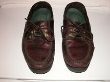 Thom McAn Mens Oxford burgundy semi-casual lace boat shoes 10D 84450 6507 1000