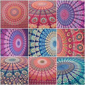 Large Mandala Tapestry Wall Hanging Throw Hippie India 100% Cotton King Size