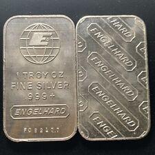 1 Troy Ounce .999 Engelhard Fine Silver Bar 1 Oz. Bullion