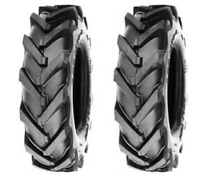 Two(2) DELI 4.80/4.00-8 Tires AG Tread Tiller Trencher 4 Ply Tubeless Heavy Duty