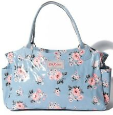 RRP £50 Cath Kidston Classic Day Bag Handbag Oilcloth Blue Pink Grove Floral