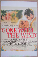 GONE WITH THE WIND MOVIE POSTER Clark Gable REPRINT 27x40 of the One Sheet