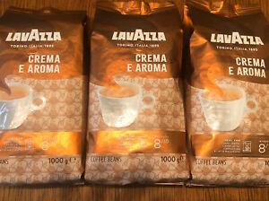 3 Kg LAVAZZA CREMA e AROMA Kaffee ganze Bohnen