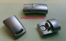 Fermoir magnétique en alliage, sans nickel, rectangle, platine26x13x8 mm