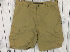 REI UPF 50+ Nylon Cargo Hiking Shorts Size Medium Elastic Waist Tan C2