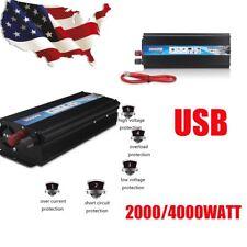 2000W 4000 WATT DC 12V AC 220V Car Power Inverter Electronic Charger Converter