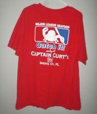 CAPTAIN CURT'S Siesta Key tee XL baseball Major League seafood T shirt Florida