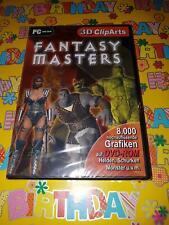 Fantasy Masters 3D Clip Arts 8000 hochaufl. Grafiken Helden Schurken PC #LB575
