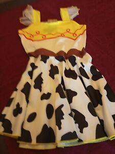 kids Girls Cosplay Toy Story Jessie Fancy Dress Up Costume Party