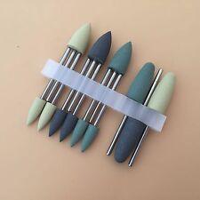 Dental Lab SILICONE Rubber Polishers Polishing Burs 2.35mm 12pcs/set IT