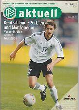 Original PRG   30.04.2003    DEUTSCHLAND - SERBIEN und MONTENEGRO  !!  SELTEN