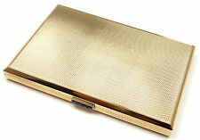 Rare! Vintage Van Cleef & Arpels 18k Gold Sapphire Business Card Case Holder Box