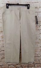 7de604e6 Briggs capris cropped pants womens 10 stone beige new no gap stretch waist  O1
