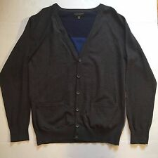 Forever21 Mens Cardigan Gray w/ Striped Back Size XL 21Men Forever 21 Sweater
