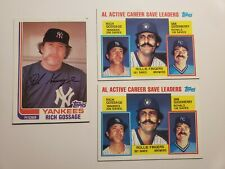 """Rich """"Goose"""" Gossage and Rollie Fingers 00006000  Topps Lot 1982 and 1984"""