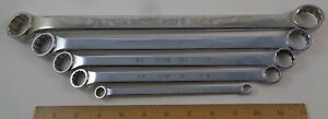 "5 Husky USA SAE chrome box wrenches: 5/16"" - 1"".  39830 39826 39822 39821 39811"