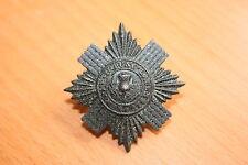 BRITISH ARMY CAP BADGE BLACKEND ANODISED ALUMINIUM SCOTS GUARDS COMBAT ISSUE