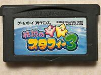 Legendary Starfy 3 Densetsu Nintendo Gameboy Advance GBA Japan Import US Seller!