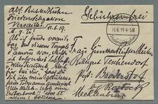 Versailles Friedensdelegation gebührenfreie Feldpost 1919 Fotokarte