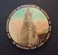 Miroir publicité STANDARD OIL COMPANY OF NEW YORK NY oil can miror bidon huile
