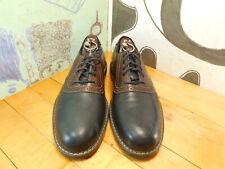 "G. H. Bass & Co. Black & Brown Leather Saddle Oxfords Men's 9M ""Drew"""