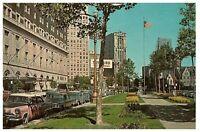 Washington Blvd. Detroit Michigan Downtown Parkway Vintage Postcard