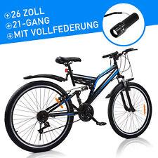 26 Zoll Mountainbike 21 Gänge Vollfederung Jugendfahrrad Fahrrad Kinder 26