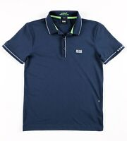 Hugo Boss Polo Shirt Men's Paule Moisture Manager Navy Blue Slim Fit 50277329