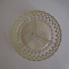 Assiette ronde serviteur de table verre vintage XXe art déco design PN France