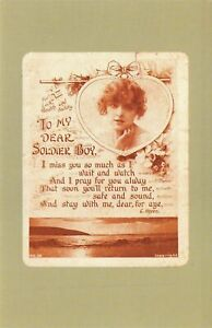 Nostalgia Postcard Midget Message Card, First World War WW1 Repro Card NS28