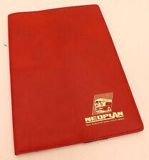 Neoplan Mappe Rot Kunstleder Einsteckfächer Unterlagen Omnibus Oldtimer Sammler