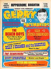 """The Beach Boys / Gerry Pacemakers Brighton 16"""" x 12"""" Photo Repro Concert Poster"""