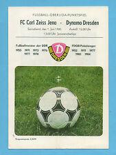 Orig.PRG   DDR Oberliga 1984/85   SG DYNAMO DRESDEN - FC CARL ZEISS JENA  !!