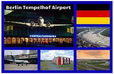 BERLIN TEMPELHOF AIRPORT- SOUVENIR NOVELTY FRIDGE MAGNET - NEW - GIFT - SIGHTS