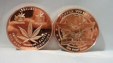 10 Cannabis Clones Legalized It 1oz. .999 Copper Bullion Art Round F/S