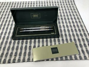 Vtg Cross Medalist Ballpoint Pen & 0.5 Pencil Set 330105 w Gold Plate NIB AAA