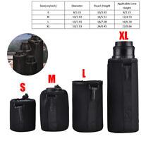 Shockproof 4pcs DSLR Camera Lens Cover Soft Pouch Protector Bag Set S M L XL LJ