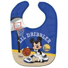 GOLDEN STATE WARRIORS MICKEY MOUSE BABY BIB DISNEY NBA OFFICIALLY LICENSED